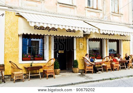 Cafe on the historic street