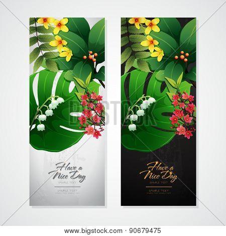 blossom tropical flower background 06