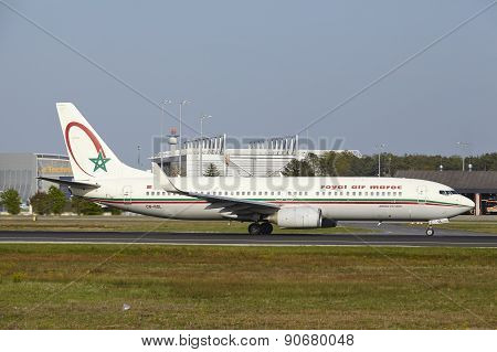 Frankfurt International Airport - Boeing 737 Of Royal Air Maroc Takes Off