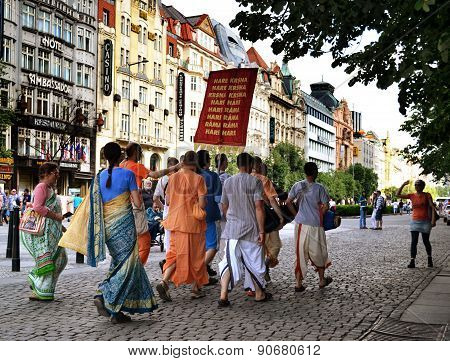Hare Krishnas in the streets