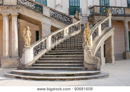 Esterhazy Castle -stairs And The Fountain