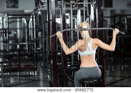 Girl In Great Shape In The Gym