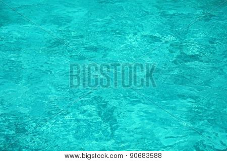Clear ocean water, in resort