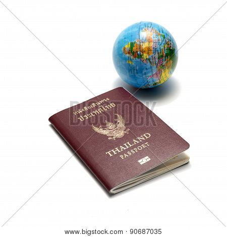 Passport And Earth Ball