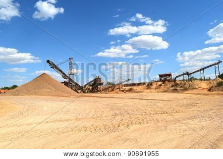 Heavy Equipment at a rock Quarry