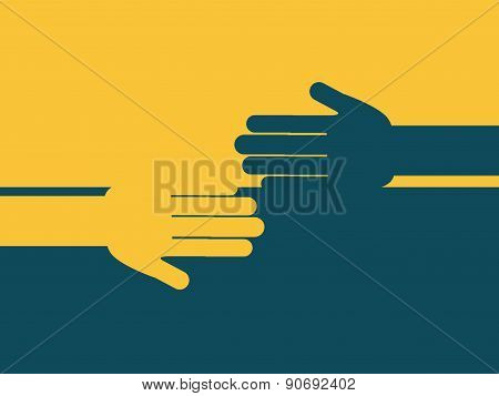 teamwork design over  yellow and blue  background vector illustr