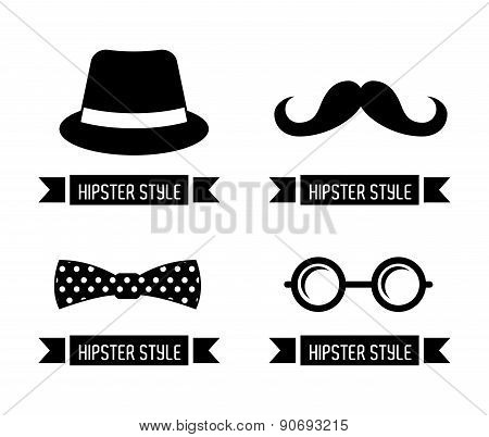 hipster design over white background vector  illustration