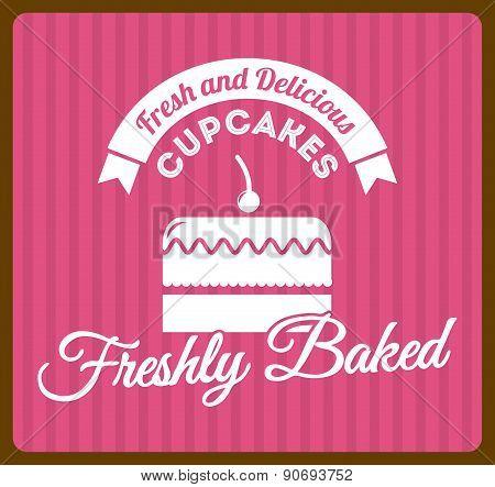bakery design over  lineal background vector illustration