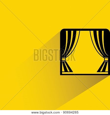 window with curtain
