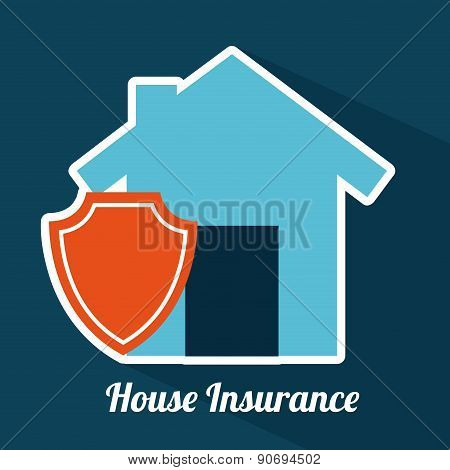 insurance design over blue  background vector illustration