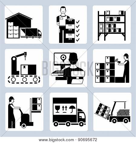 warehouse management icons
