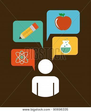 school design over  brown background vector illustration