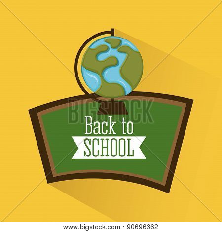 school design over yellow  background vector illustration