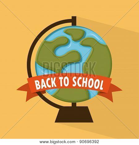 school design over  orange background vector illustration