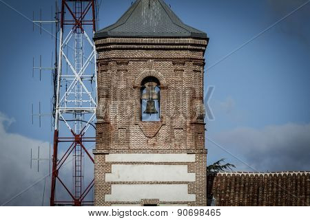 Ancient belfry,Cerro de los Angeles is located in the municipality of Getafe, Madrid. It is considered the geographic center of the Iberian Peninsula