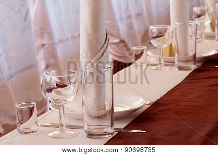 Image of a served table at a restaurant