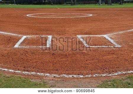 Groomed Baseball Infield