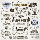 stock photo of anchor  - Set of Summer Elements - JPG