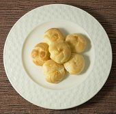 picture of custard  - Snack and Dessert Homemade Choux Cream or Choux Dough Stuffed With Custard Cream - JPG