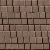foto of paving  - Brown Paving Slabs Laid out in Small Squares - JPG