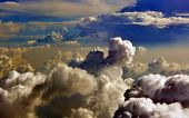 stock photo of brew  - Storm Clouds Brewing over South China Sea Vietnam - JPG