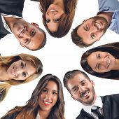 image of collaboration  - Happy faces of a team that collaborates - JPG