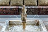 stock photo of harem  - Marble fountain in Summer Pavilion of Khan - JPG
