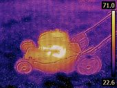 stock photo of thermal  - Thermal Image of LawnMower Failure Detection - JPG