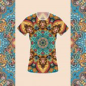 pic of ottoman  - Hand drawn abstract background ornament illustration concept - JPG