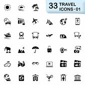 foto of travel trailer  - Travel vector icons for mobile phone interface and web - JPG