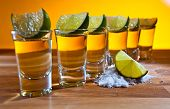 pic of lime  - tequila lime and salt on wooden table - JPG