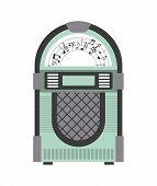 picture of jukebox  - retro device design - JPG