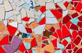 foto of ceramic tile  - Ceramic glass colorful tiles mosaic composition pattern background - JPG