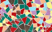 picture of ceramic tile  - Ceramic glass colorful tiles mosaic composition pattern background - JPG