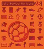 image of offside  - Set of football flat icons for Web and Mobile Applications - JPG