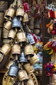 pic of edelweiss  - Decoration Metal bells from Zakopane in Poland - JPG
