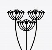foto of obituary  - flowers design over  white  background vector illustration - JPG