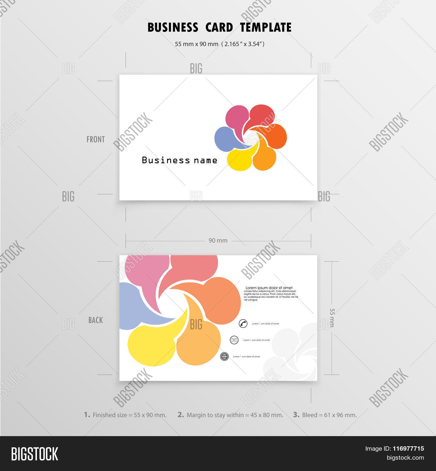 Abstract Creative Business Cards Vector & Photo | Bigstock