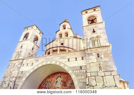 Christ's Resurrection Church In Podgorica, Montenegro