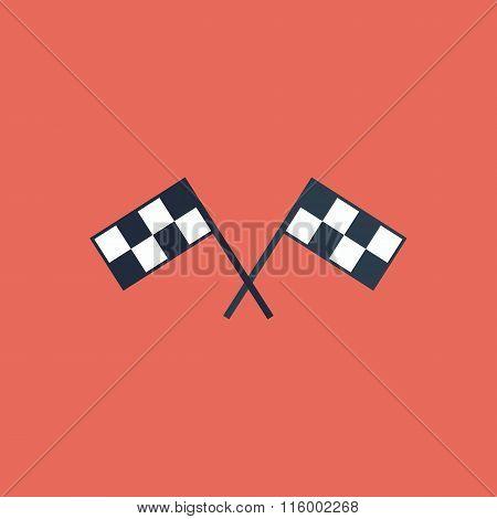 Racing flag flat icon