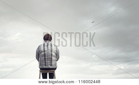 Stout woman. Concept image