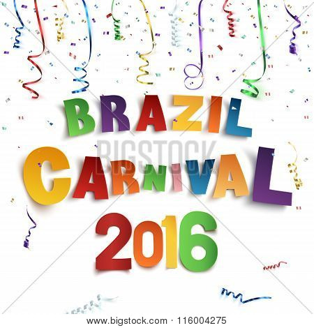 Brazil carnival background.