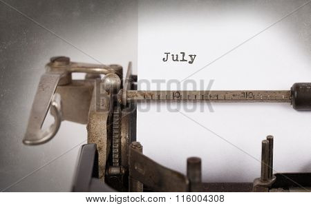 Old Typewriter - July