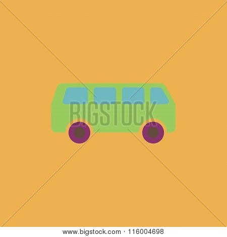 minibus flat icon