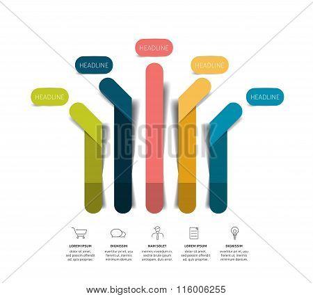 Arrow Infographic Scheme, Flowchart.