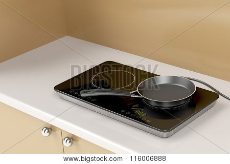 Double Induction Cooktop And Frying Pan