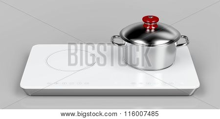 Preparing Food On Induction Cooktop