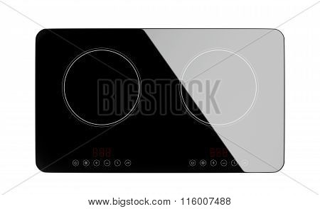 Top View Of Induction Cooktop