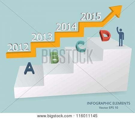 Abstract Creative concept vector icon of Step by step infographics for Web and Mobile Applications i