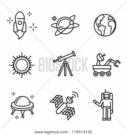 flat astronomy icons